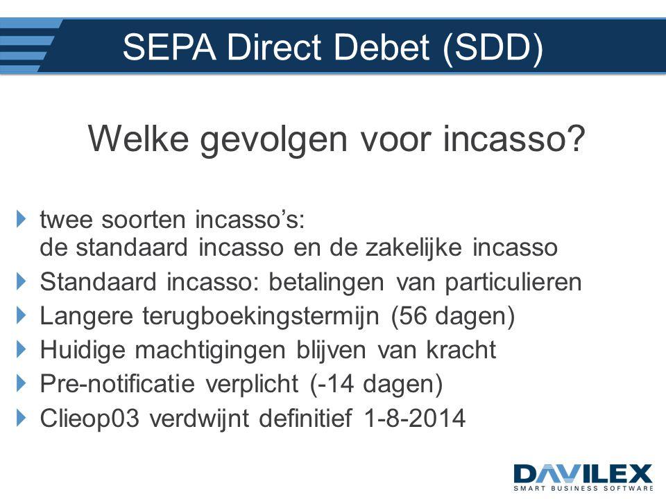 SEPA Direct Debet (SDD)