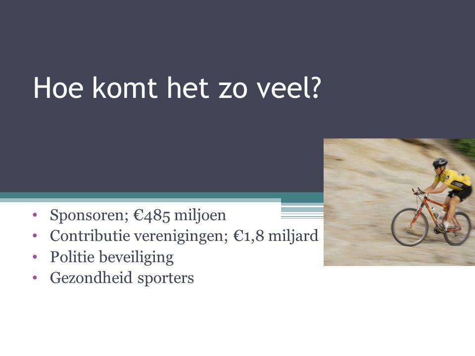 Hoe komt het zo veel Sponsoren; €485 miljoen