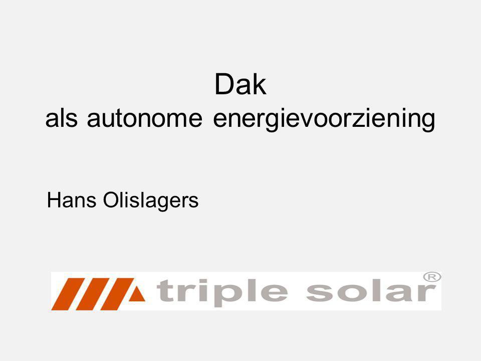 Dak als autonome energievoorziening