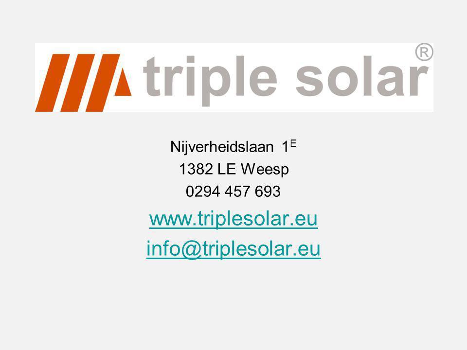 www.triplesolar.eu info@triplesolar.eu Nijverheidslaan 1E