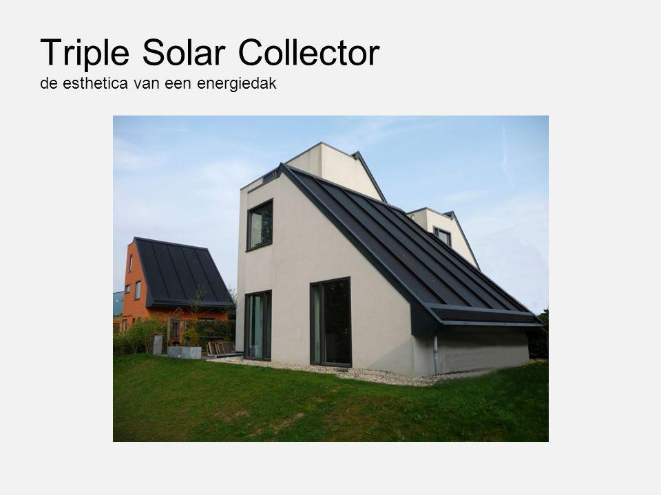 Triple Solar Collector de esthetica van een energiedak