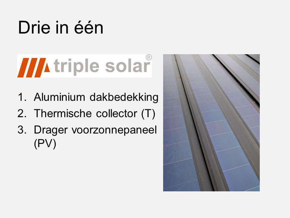 Drie in één Aluminium dakbedekking Thermische collector (T)