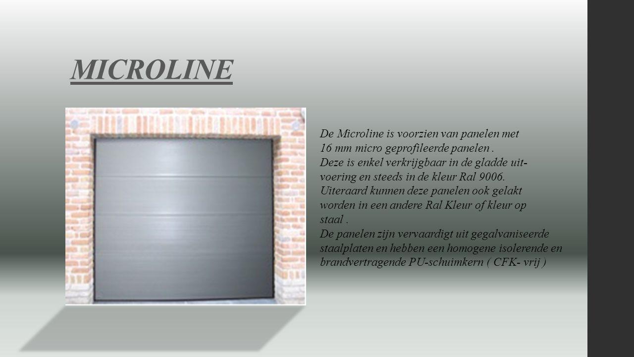 MICROLINE De Microline is voorzien van panelen met