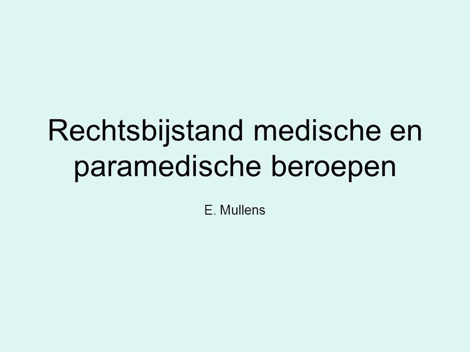 Rechtsbijstand medische en paramedische beroepen