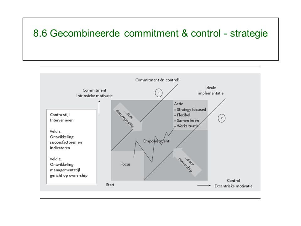 8.6 Gecombineerde commitment & control - strategie