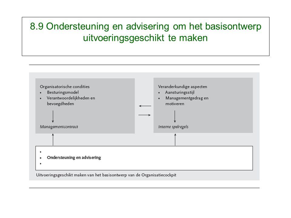 8.9 Ondersteuning en advisering om het basisontwerp uitvoeringsgeschikt te maken