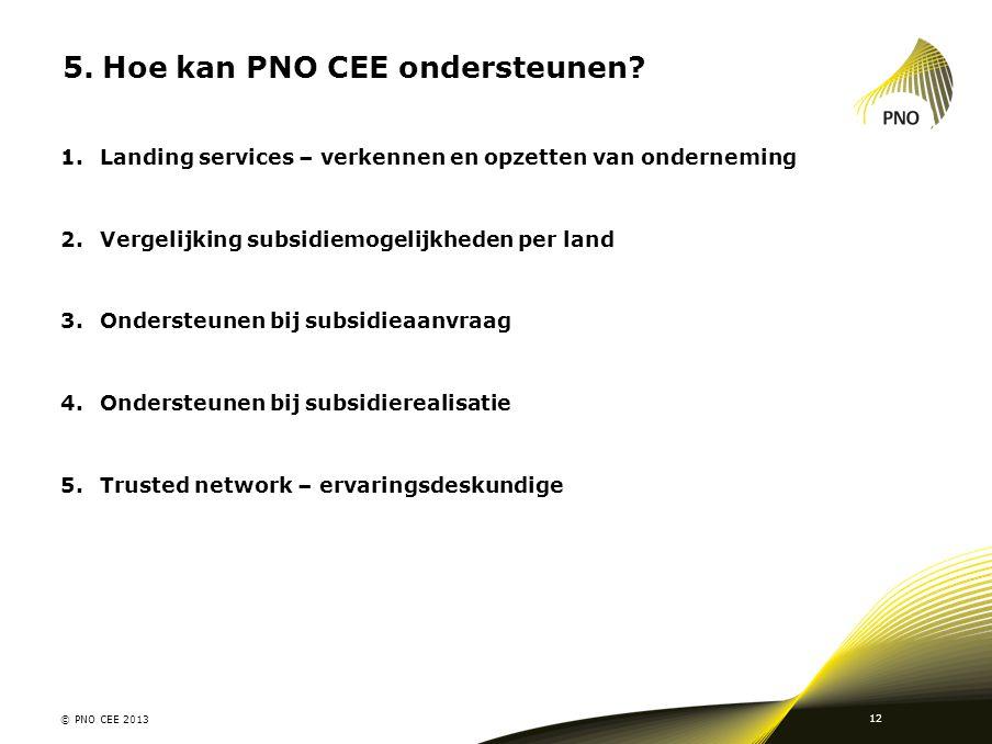 Hoe kan PNO CEE ondersteunen
