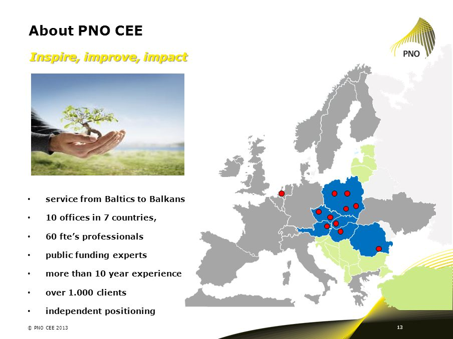 About PNO CEE Inspire, improve, impact service from Baltics to Balkans
