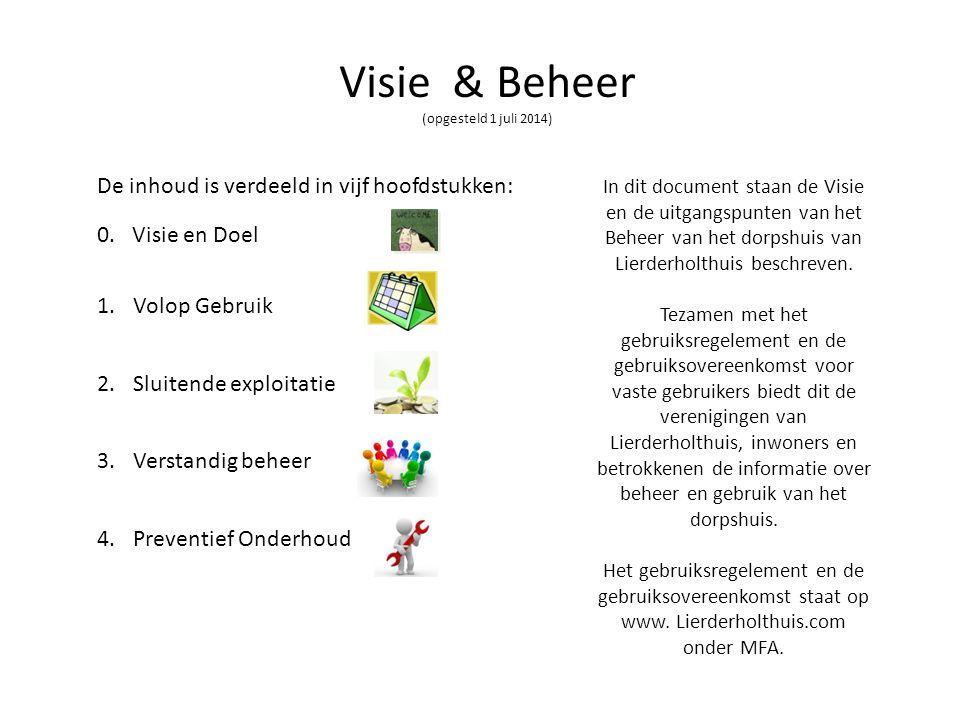 Visie & Beheer (opgesteld 1 juli 2014)