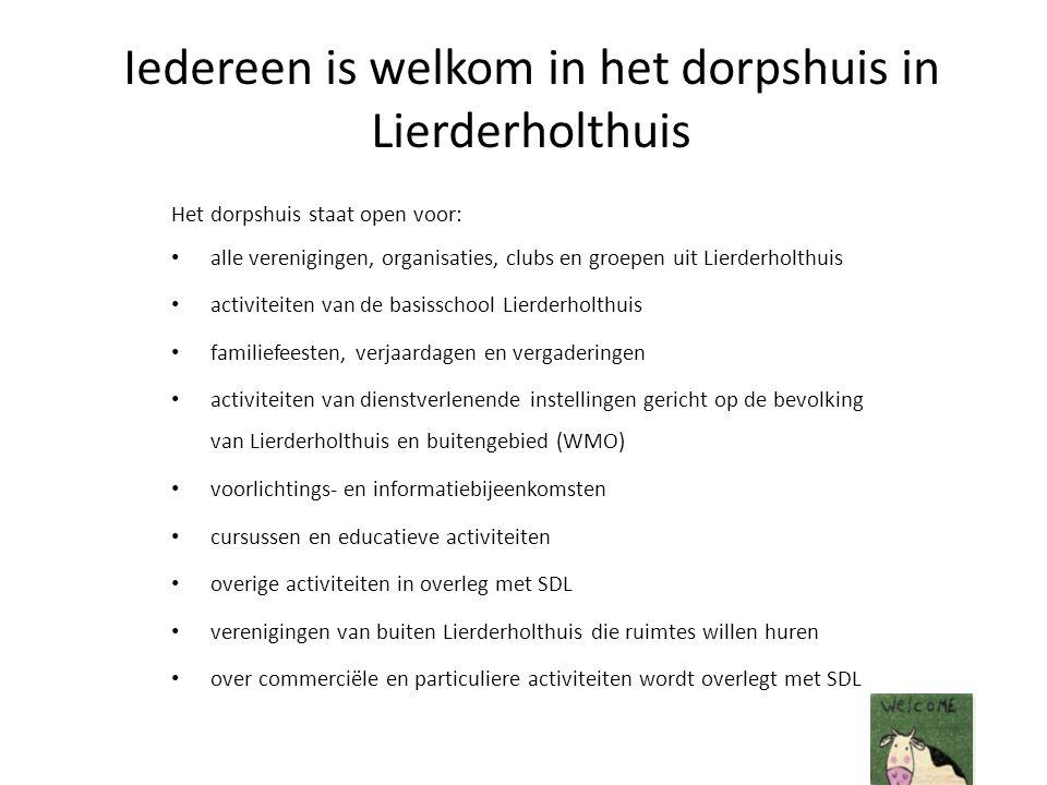 Iedereen is welkom in het dorpshuis in Lierderholthuis