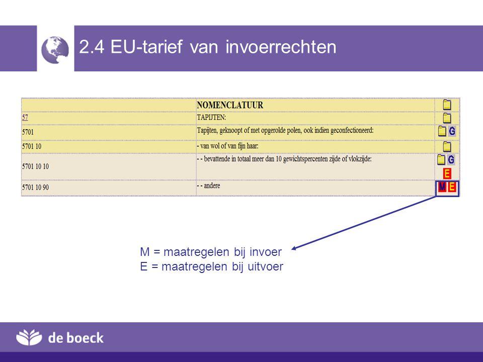 2.4 EU-tarief van invoerrechten