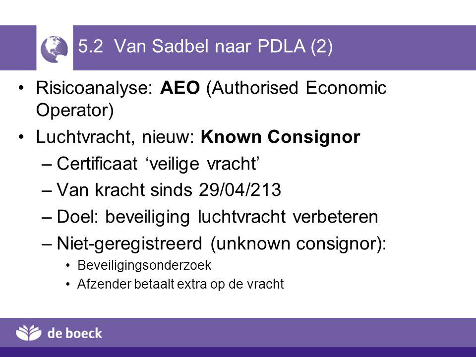 Risicoanalyse: AEO (Authorised Economic Operator)