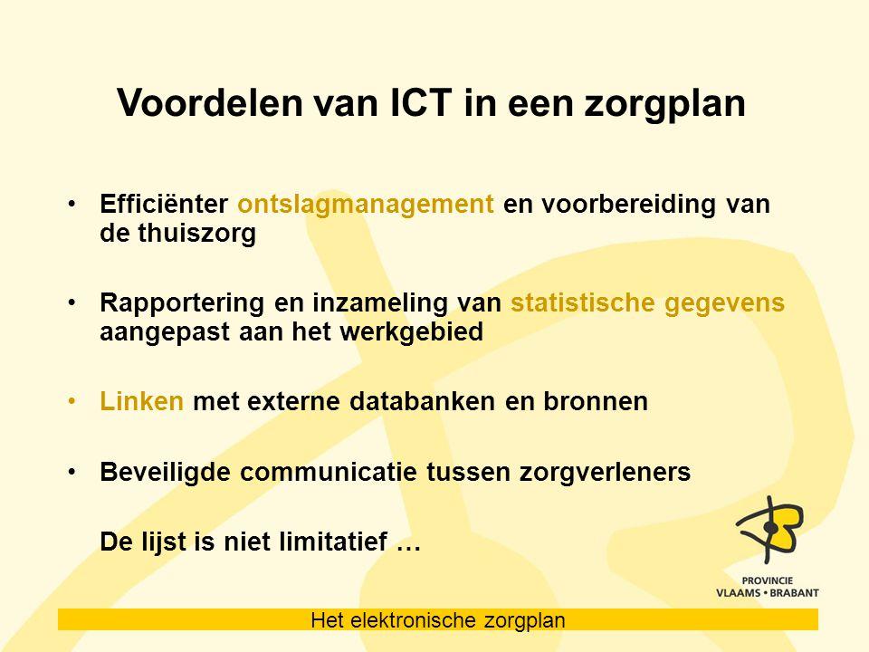 Voordelen van ICT in een zorgplan