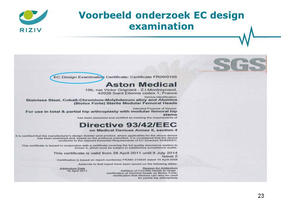 Voorbeeld onderzoek EC design examination