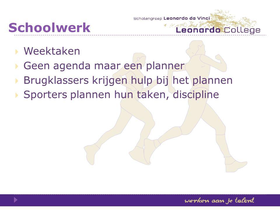 Schoolwerk Weektaken Geen agenda maar een planner