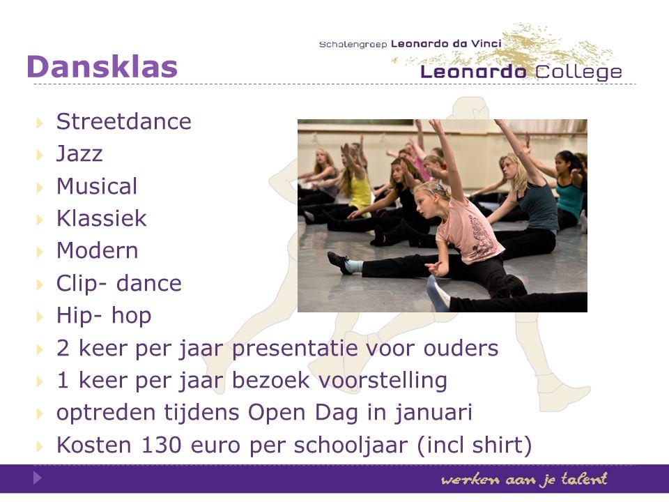 Dansklas Streetdance Jazz Musical Klassiek Modern Clip- dance Hip- hop