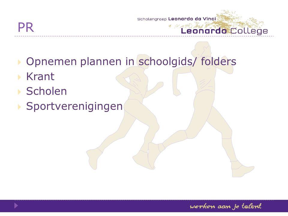 PR Opnemen plannen in schoolgids/ folders Krant Scholen