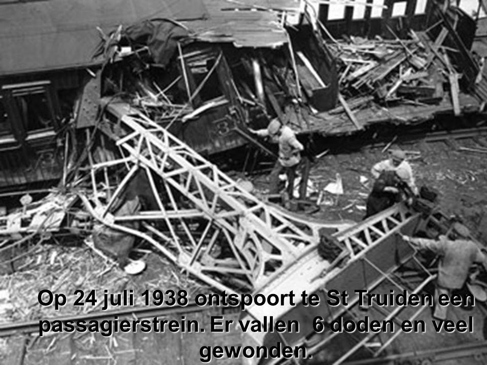Op 24 juli 1938 ontspoort te St Truiden een passagierstrein