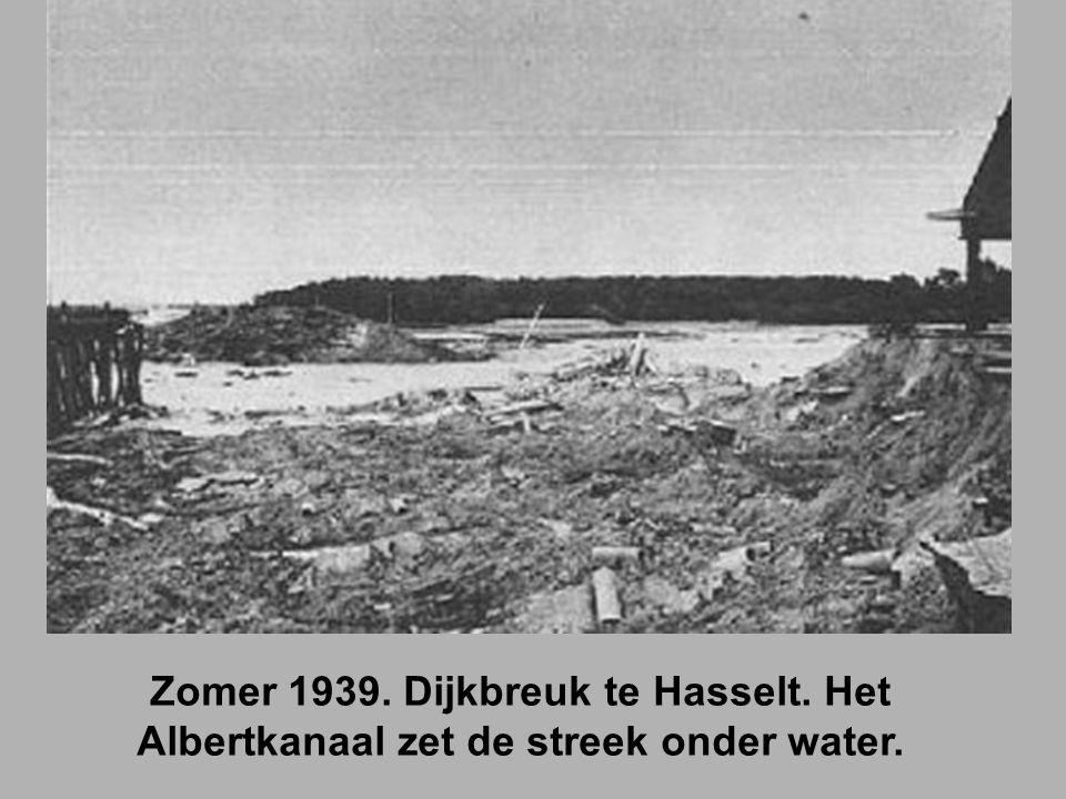 Zomer 1939. Dijkbreuk te Hasselt