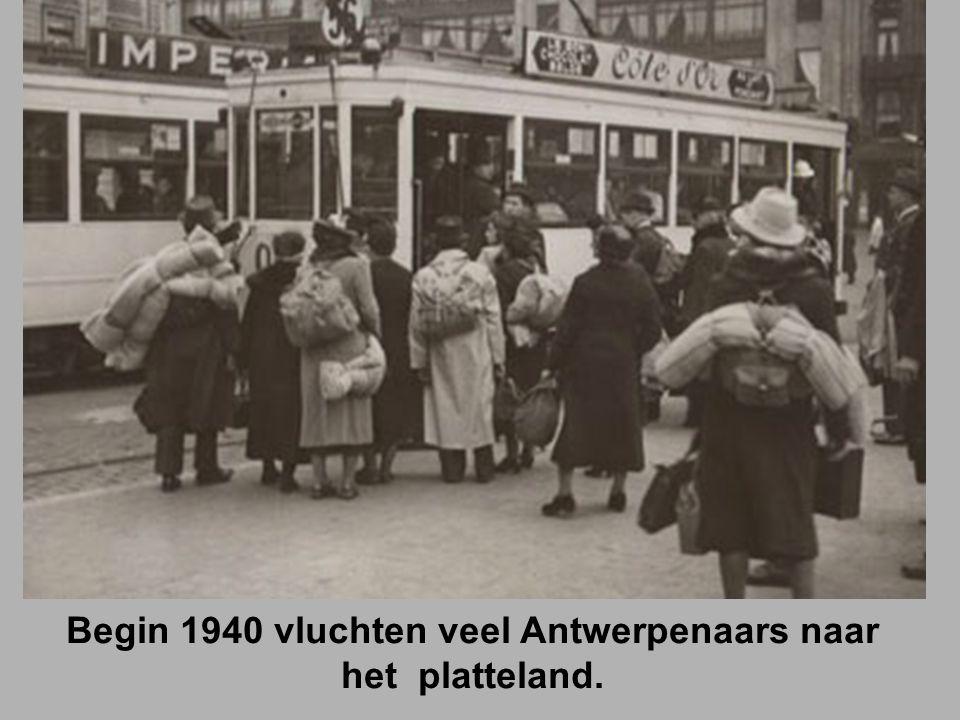 Begin 1940 vluchten veel Antwerpenaars naar het platteland.