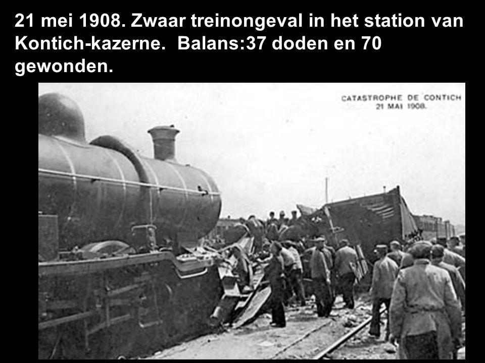 21 mei 1908. Zwaar treinongeval in het station van Kontich-kazerne