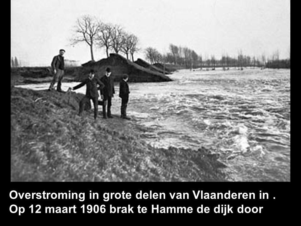 Overstroming in grote delen van Vlaanderen in .