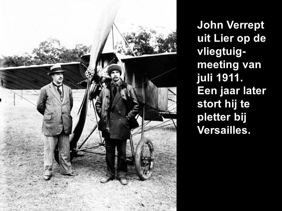 John Verrept uit Lier op de vliegtuig-meeting van juli 1911.