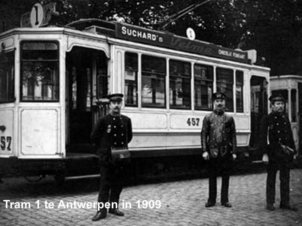 Tram 1 te Antwerpen in 1909