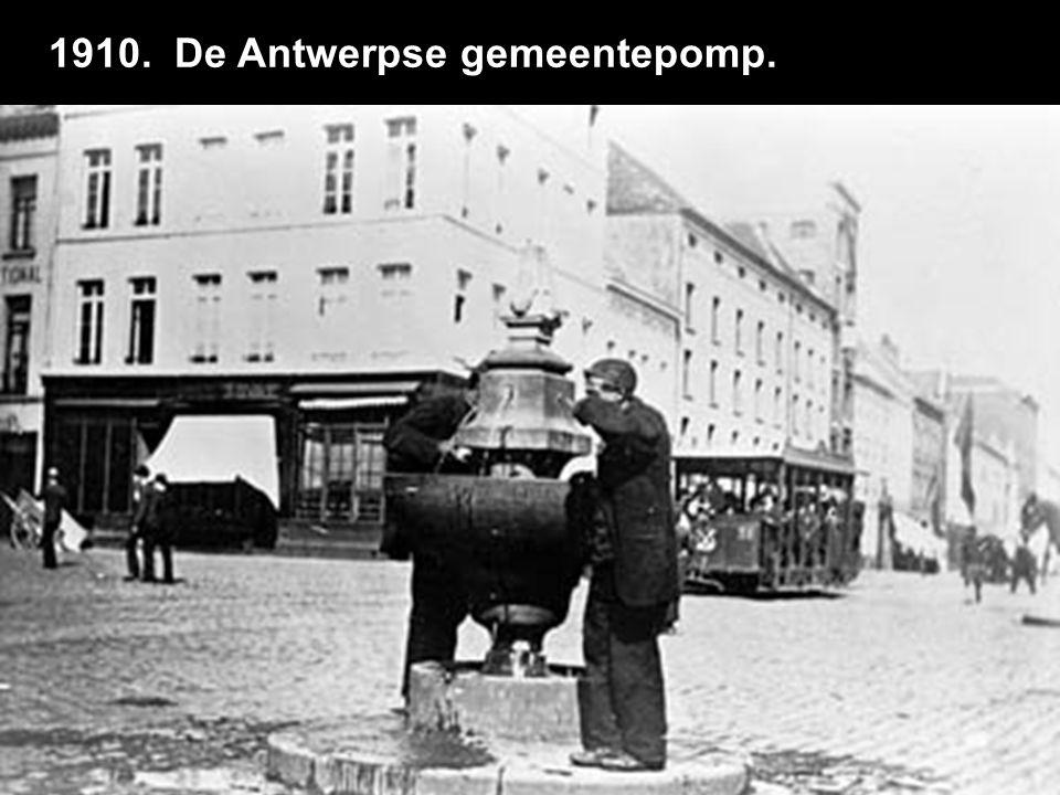 1910. De Antwerpse gemeentepomp.