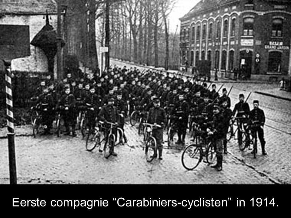 Eerste compagnie Carabiniers-cyclisten in 1914.