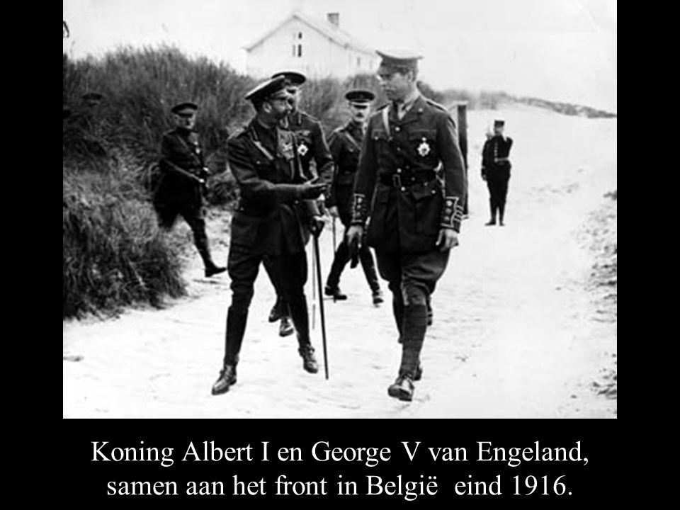 Koning Albert I en George V van Engeland,