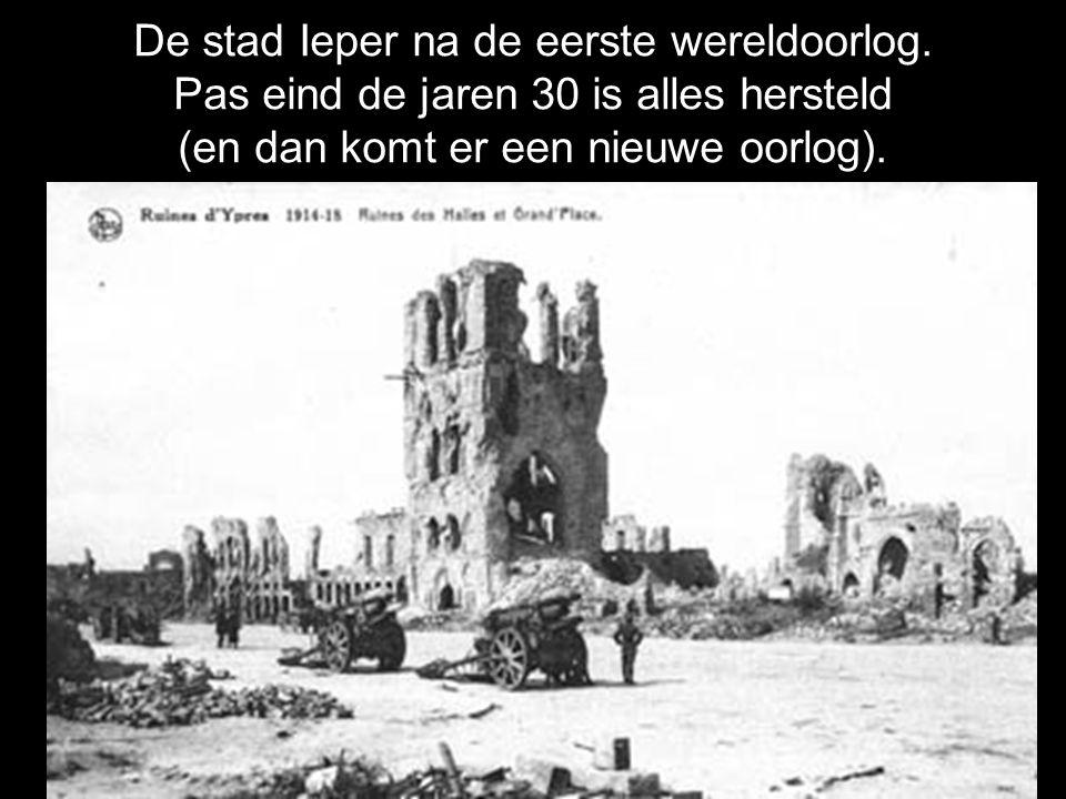 De stad Ieper na de eerste wereldoorlog.