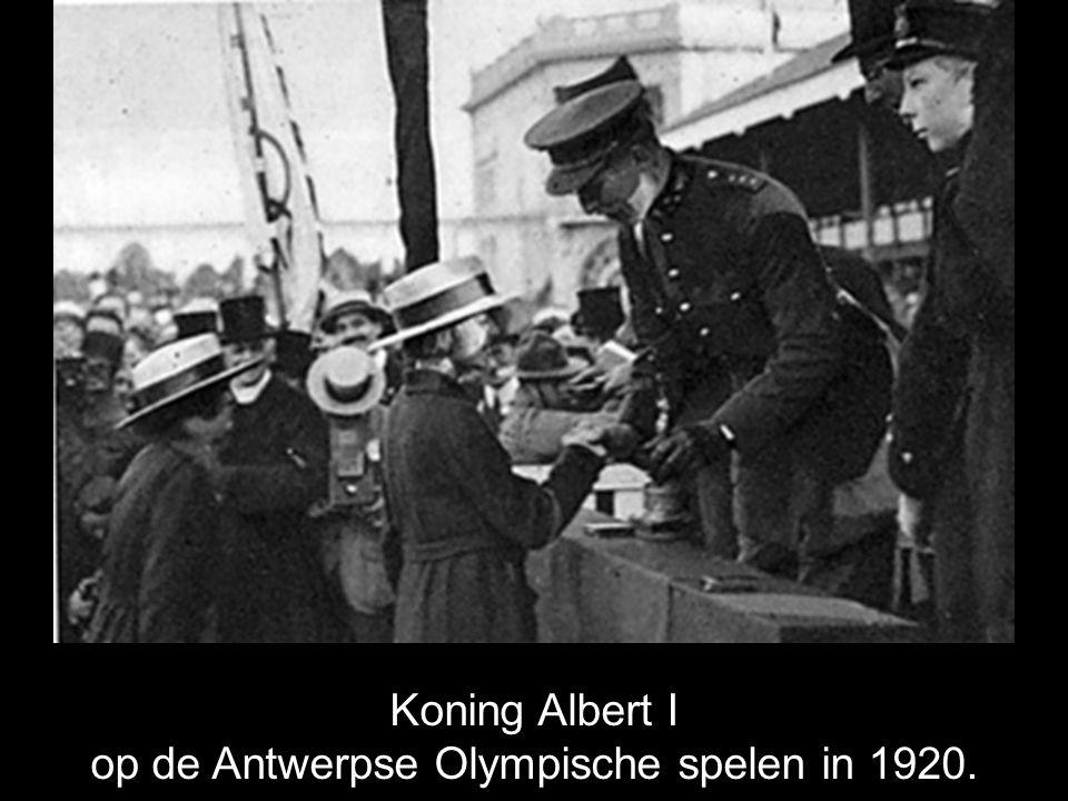 op de Antwerpse Olympische spelen in 1920.