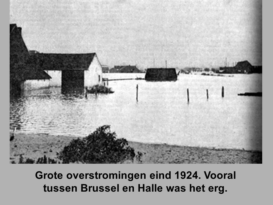 Grote overstromingen eind 1924