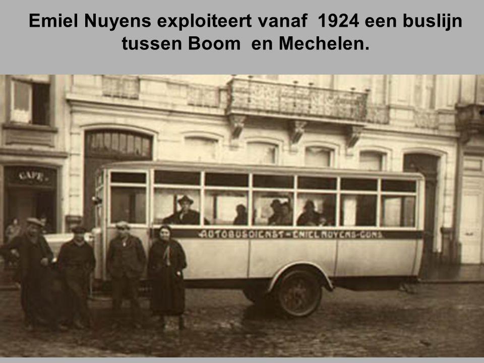 Emiel Nuyens exploiteert vanaf 1924 een buslijn tussen Boom en Mechelen.