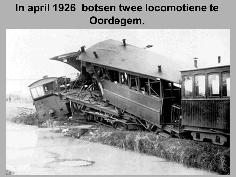 In april 1926 botsen twee locomotiene te Oordegem.