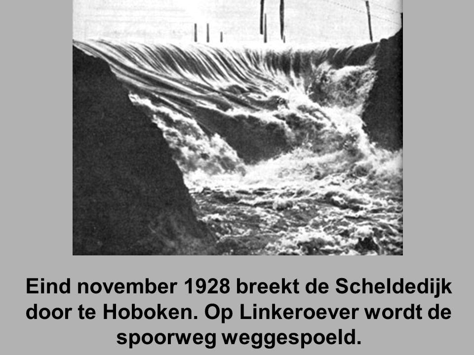 Eind november 1928 breekt de Scheldedijk door te Hoboken