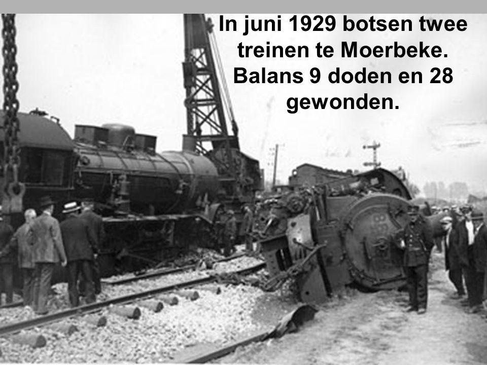 In juni 1929 botsen twee treinen te Moerbeke.