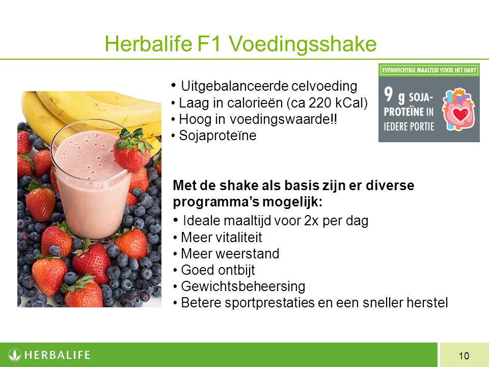Herbalife F1 Voedingsshake