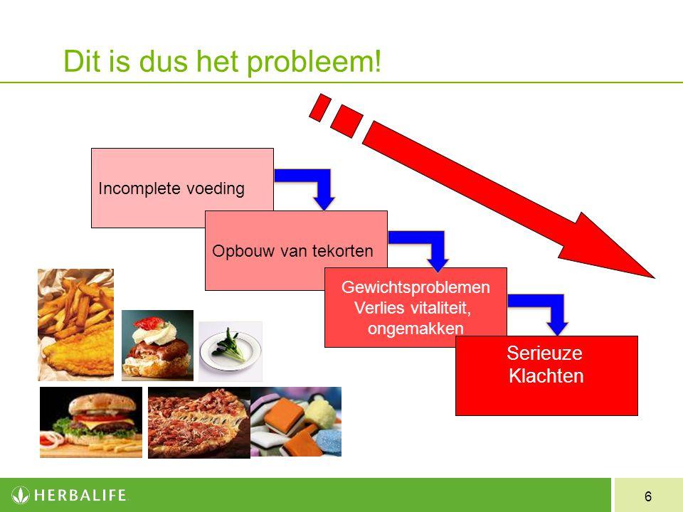 Dit is dus het probleem! Serieuze Klachten Incomplete voeding