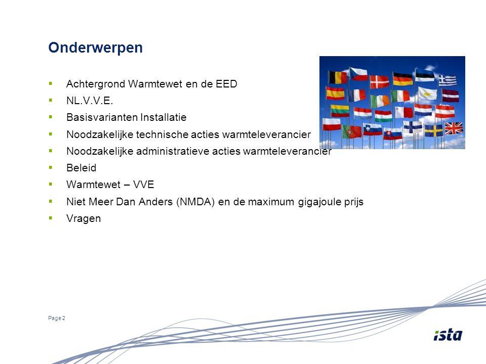 Onderwerpen Achtergrond Warmtewet en de EED NL.V.V.E.