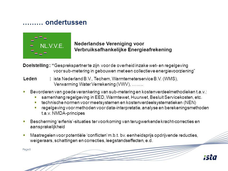 ……… ondertussen Nederlandse Vereniging voor