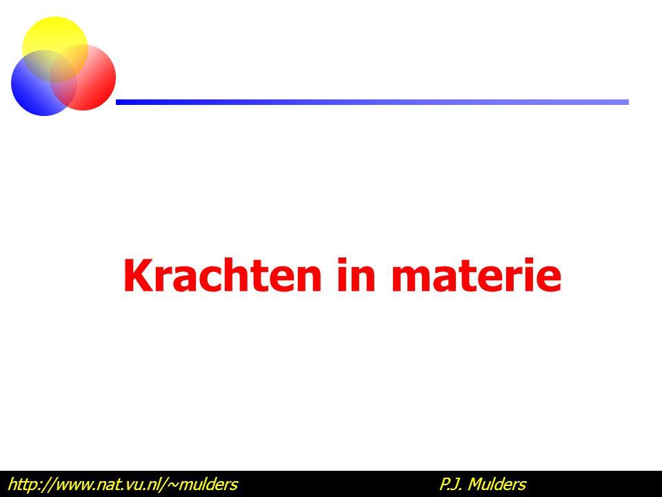 Krachten in materie http://www.nat.vu.nl/~mulders P.J.