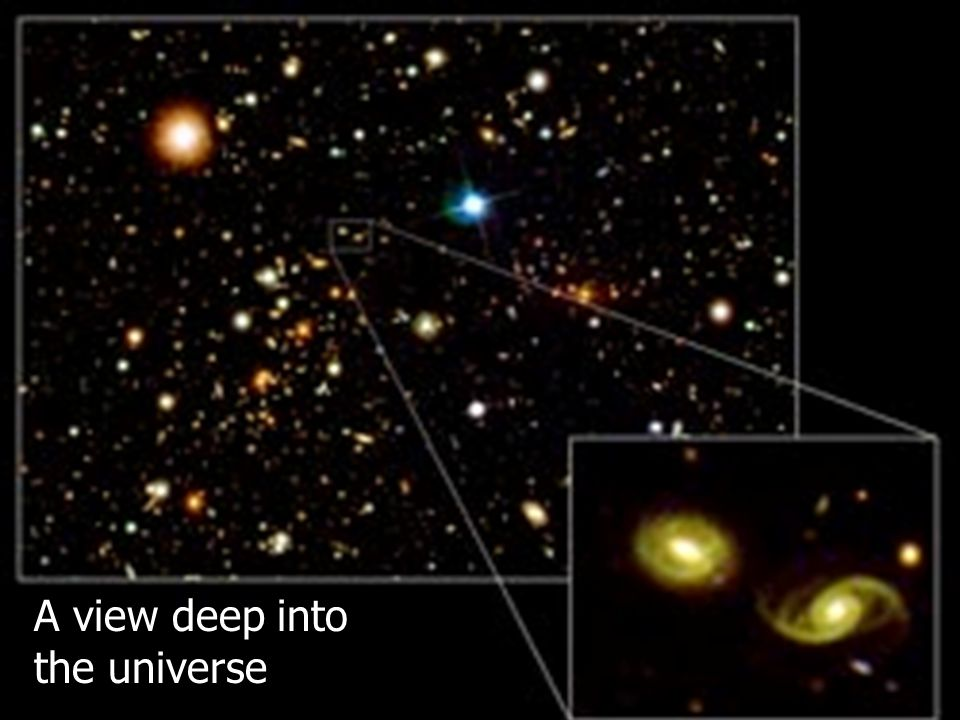 A view deep into the universe