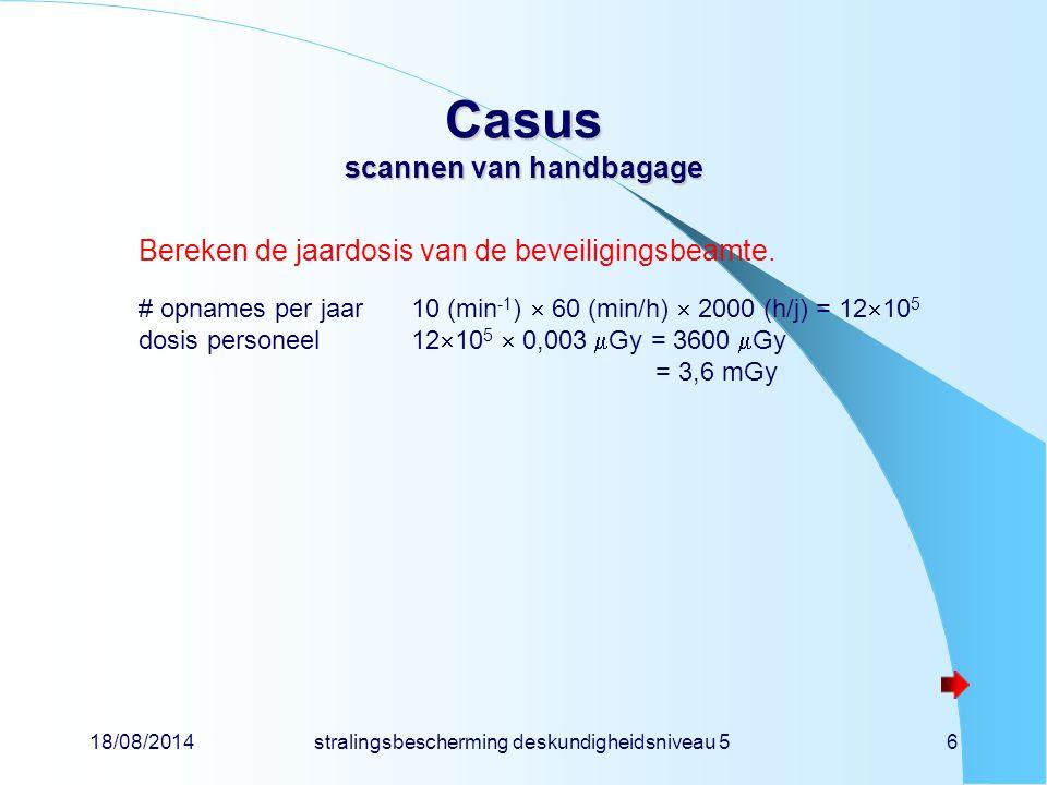 Casus scannen van handbagage