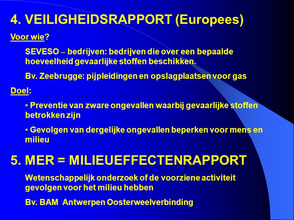 4. VEILIGHEIDSRAPPORT (Europees)