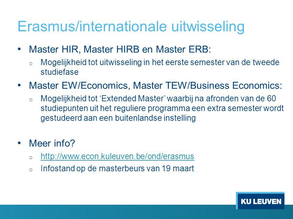 Erasmus/internationale uitwisseling