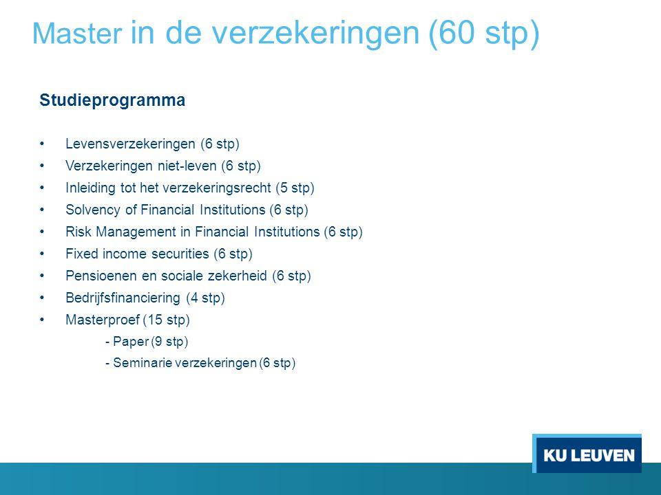 Master in de verzekeringen (60 stp)