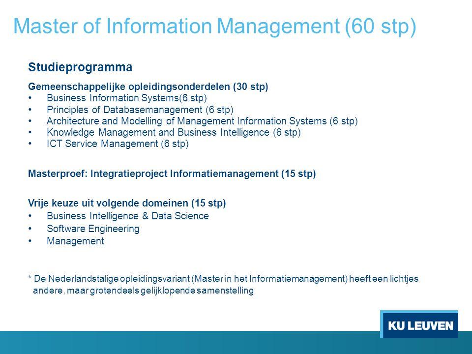 Master of Information Management (60 stp)