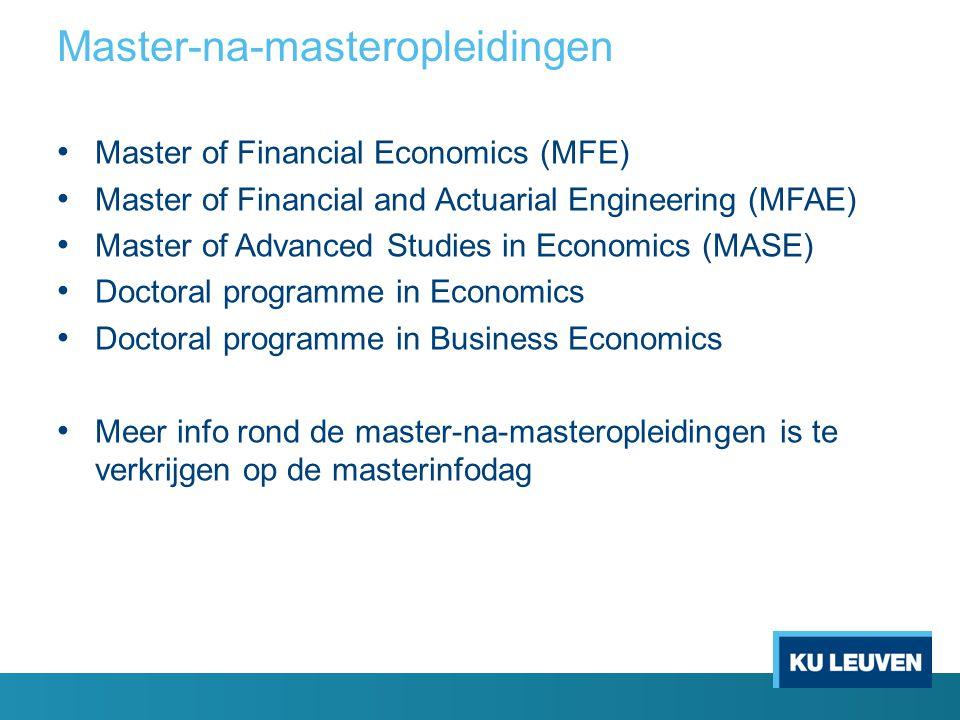 Master-na-masteropleidingen